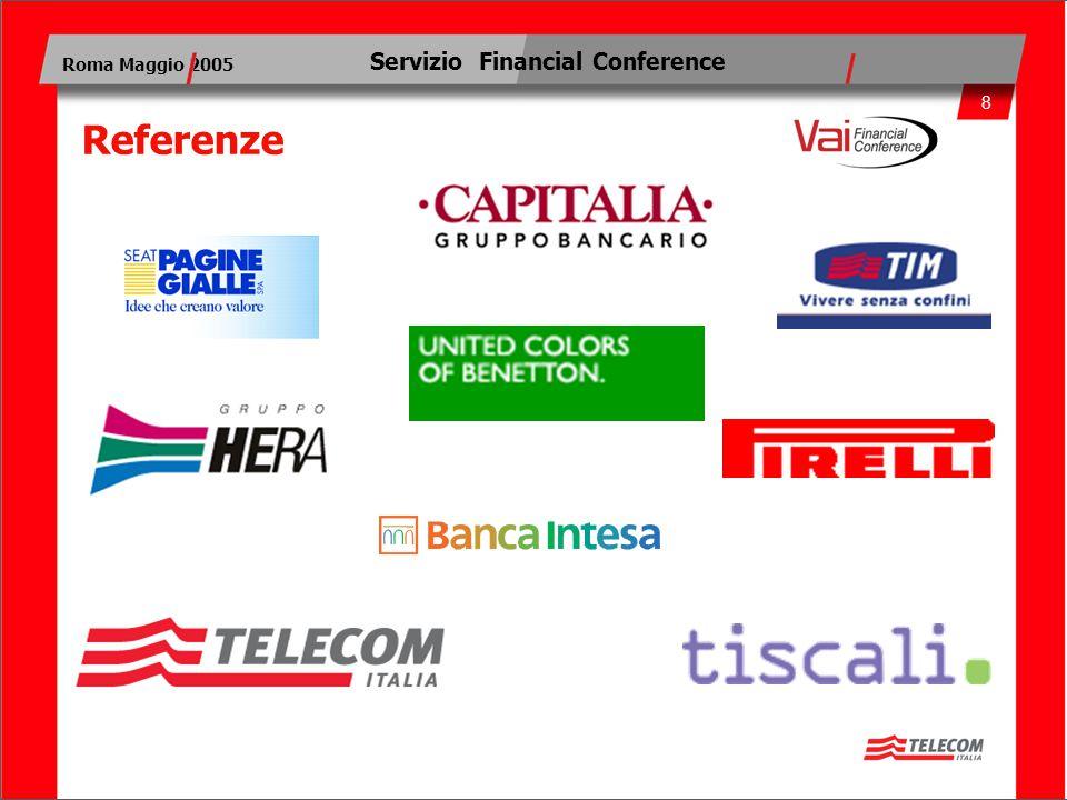 8 Roma Maggio 2005 Servizio Financial Conference Referenze