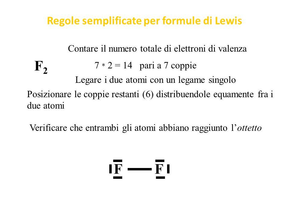 Formula di Lewis dell'O 2 O 2 :           O Ordine di legame (elettroni di legame – elettroni di antilegame) / 2 ( 8 – 4