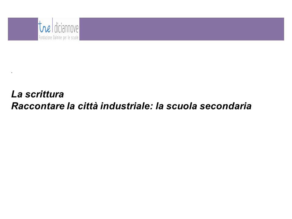 La scrittura Raccontare la città industriale: la scuola secondaria.