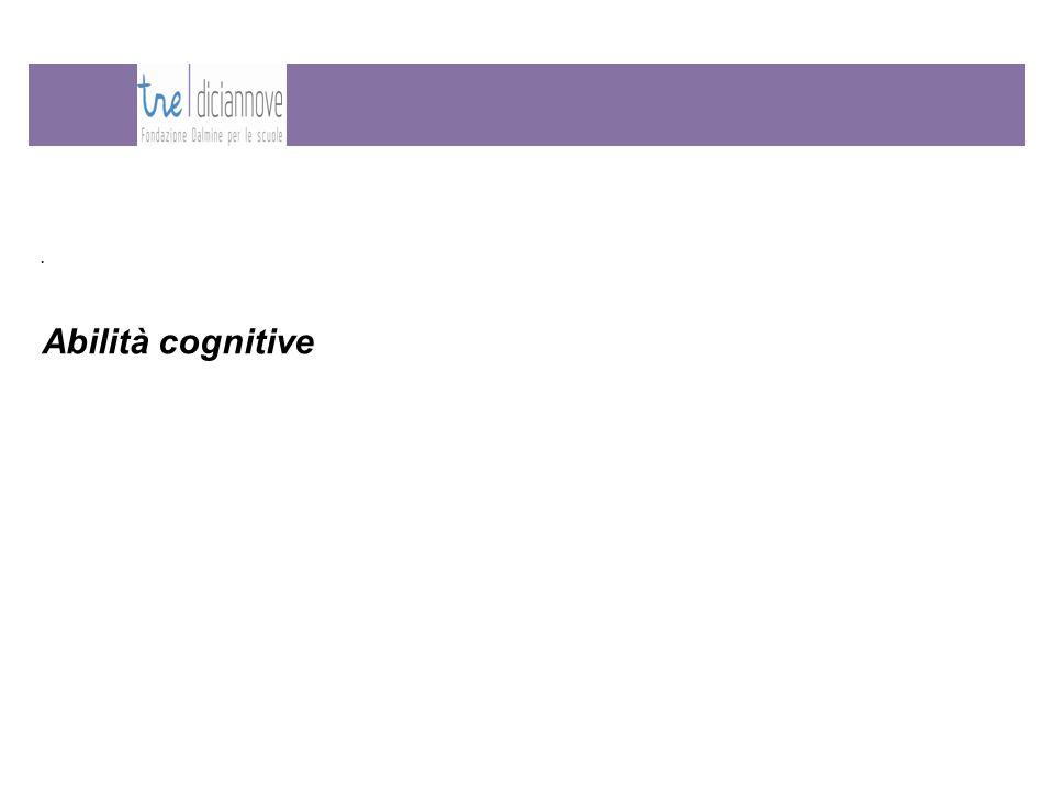 Abilità cognitive.