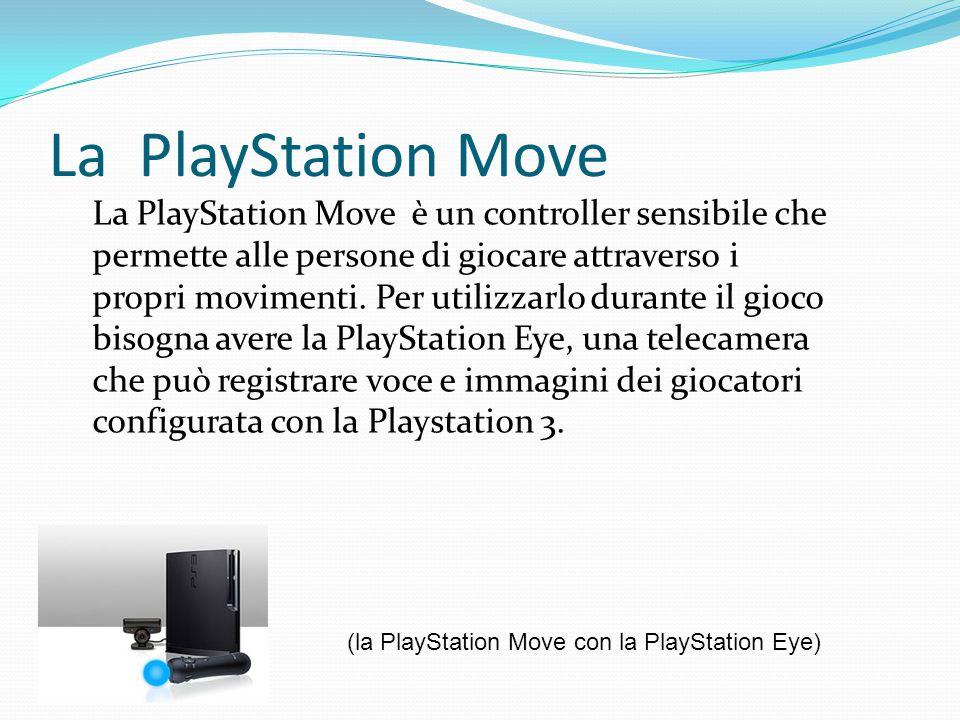 La PlayStation Move La PlayStation Move è un controller sensibile che permette alle persone di giocare attraverso i propri movimenti.