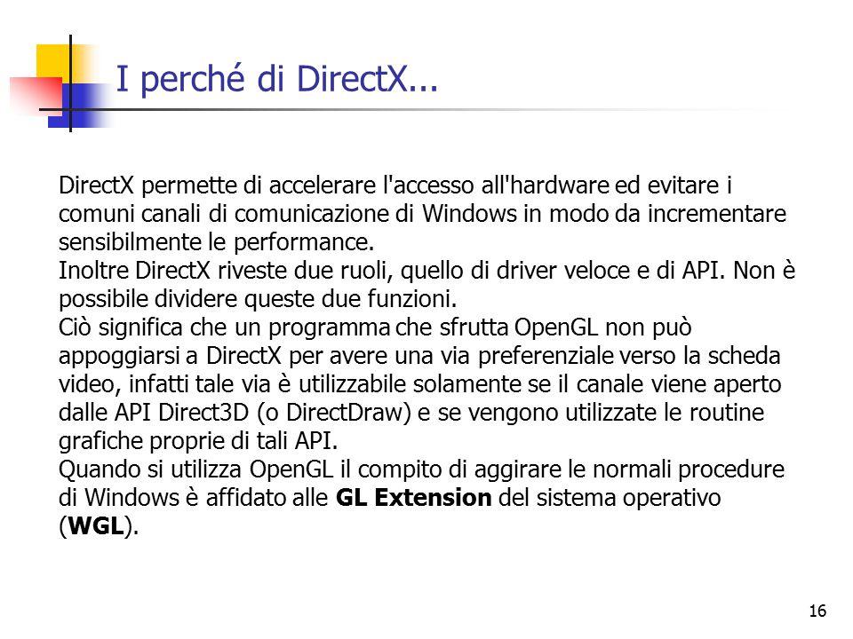16 I perché di DirectX...