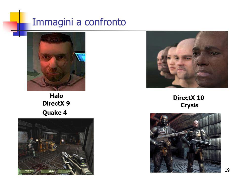 19 Immagini a confronto DirectX 9 DirectX 10 Halo Quake 4 Crysis