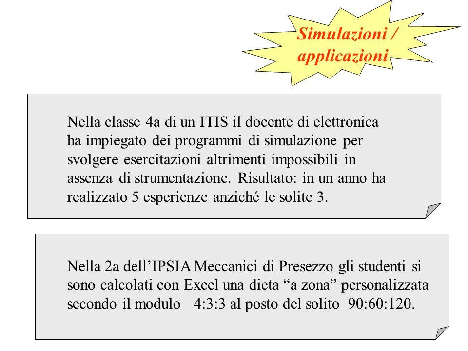 Nella classe 4a di un ITIS il docente di elettronica ha impiegato dei programmi di simulazione per svolgere esercitazioni altrimenti impossibili in assenza di strumentazione.