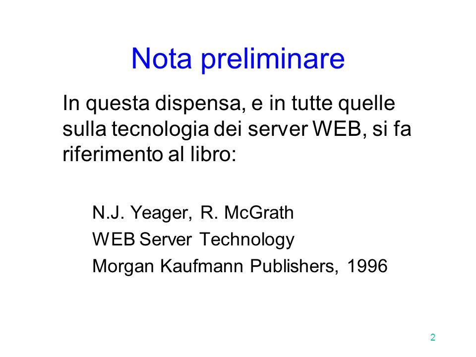 13 Il protocollo HTTP: la richiesta Un esempio: GET /NDP/index.html HTTP/1.0 User-Agent: NCSA Mosaic for the X Window System/2.5 Accept: text/plain Accept: text/html Accept: application/postscript Accept: image/*