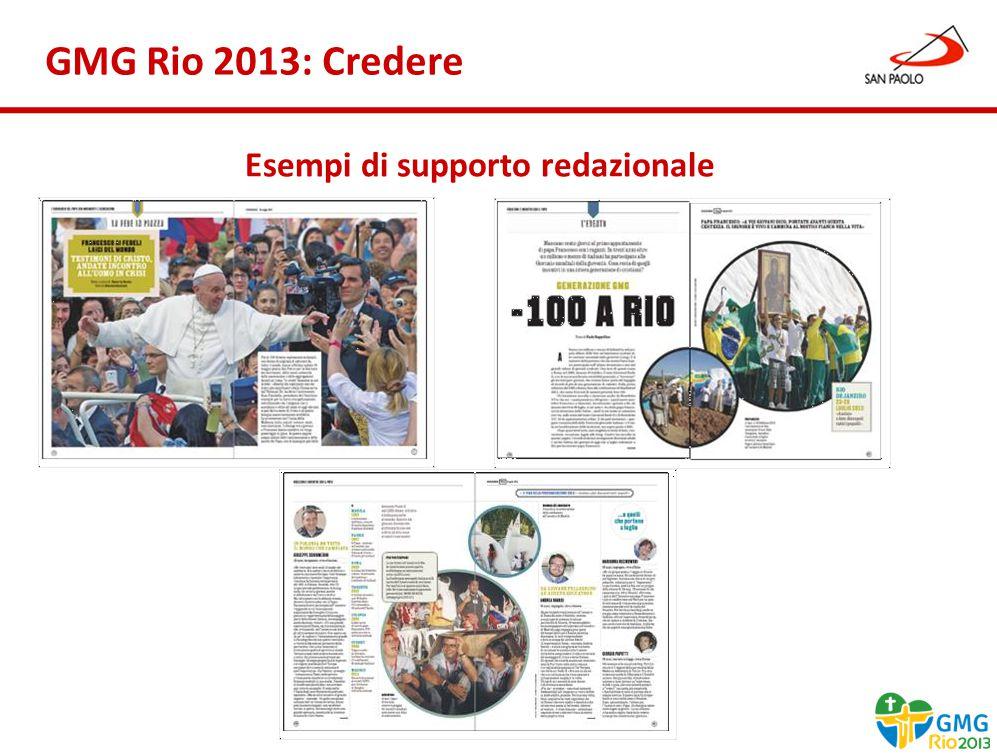 Benessere Gennaio 2013 GMG Rio 2013: Credere Esempi di supporto redazionale