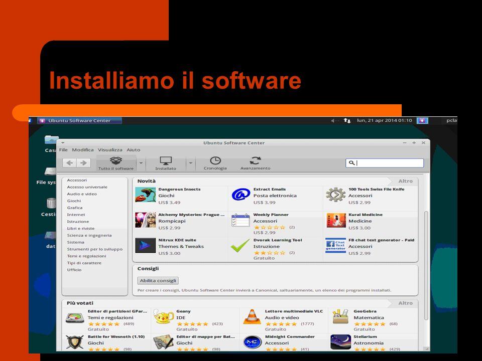 Installiamo il software