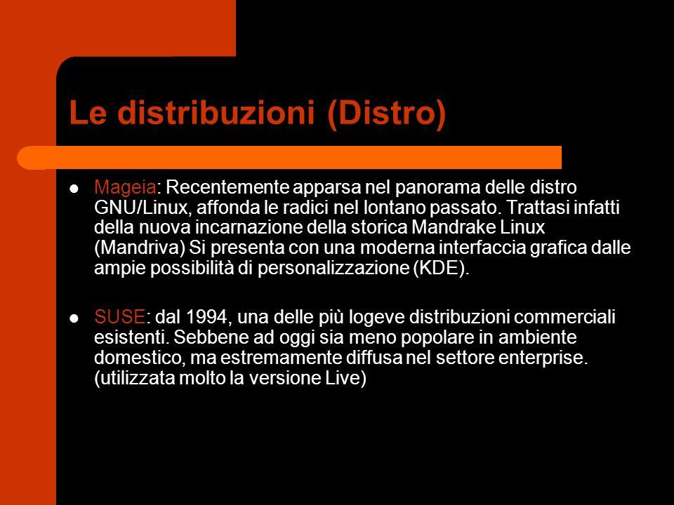 Le distribuzioni (Distro) Mageia: Recentemente apparsa nel panorama delle distro GNU/Linux, affonda le radici nel lontano passato. Trattasi infatti de