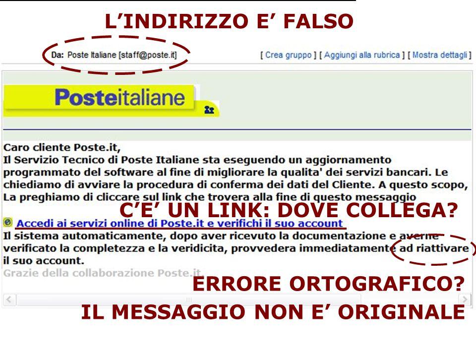 00 AN 24 corso_sicurezza_asur10 @ www.divini.net IMMAGINE EMAIL PHISHING L'INDIRIZZO E' FALSO C'E' UN LINK: DOVE COLLEGA.