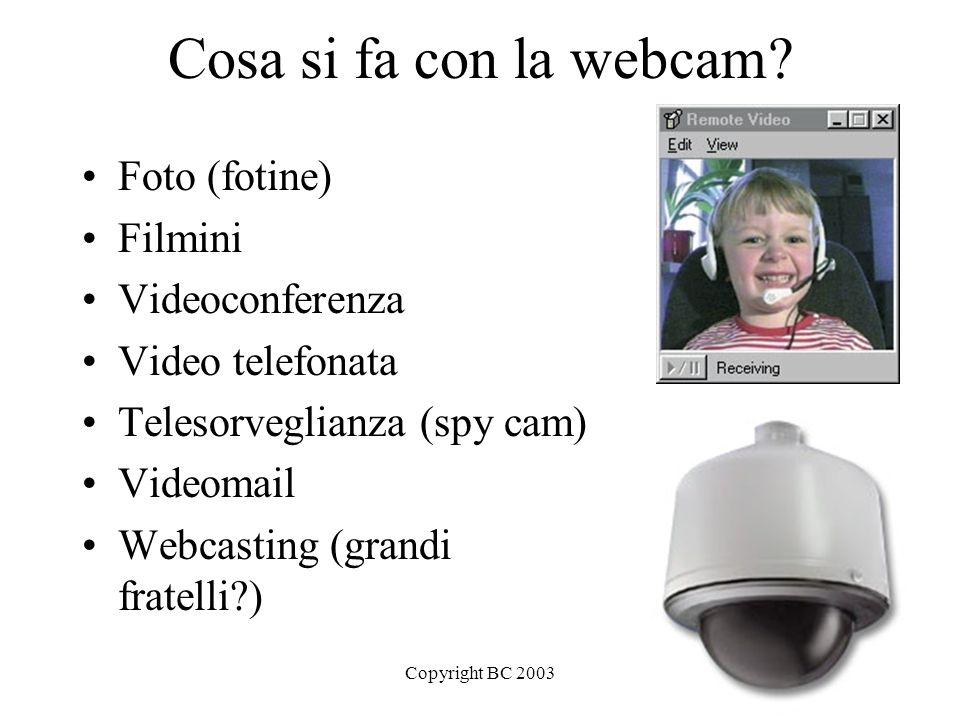 Copyright BC 20033 Webcam: come funziona.