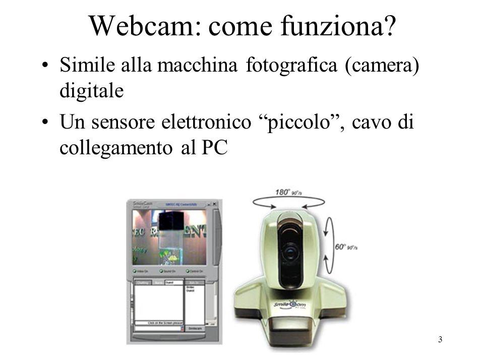 Copyright BC 200314 Webcams: Prezzi Da circa 30 € per una entry-level (USB I, 100Kpix) A oltre 500€ per una PTZ con web server integrato Fino a migliaia di Euro per prodotti professionali.