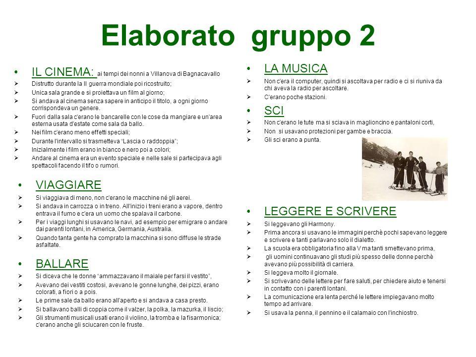 Elaborato gruppo 2 IL CINEMA: ai tempi dei nonni a Villanova di Bagnacavallo  Distrutto durante la II guerra mondiale poi ricostruito;  Unica sala g