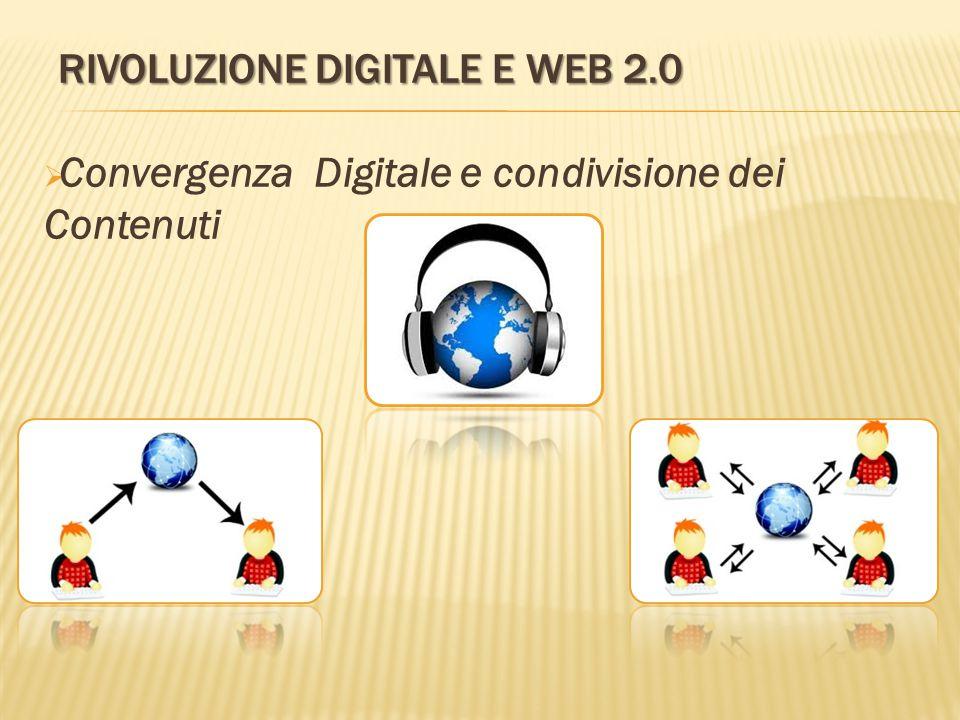 RIVOLUZIONE DIGITALE E WEB 2.0  Convergenza Digitale e condivisione dei Contenuti