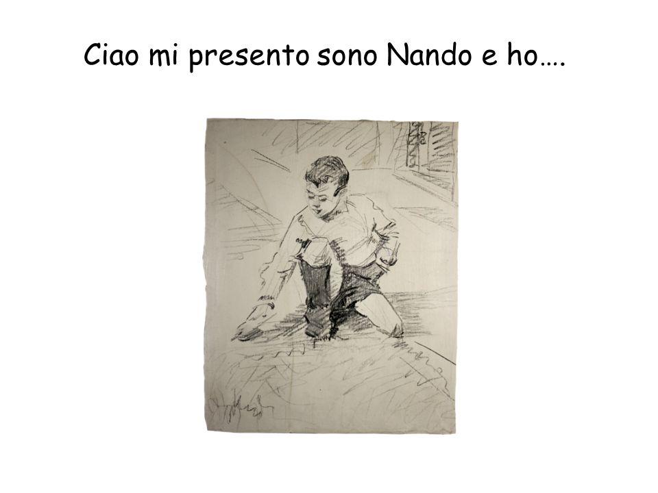 Ciao mi presento sono Nando e ho….