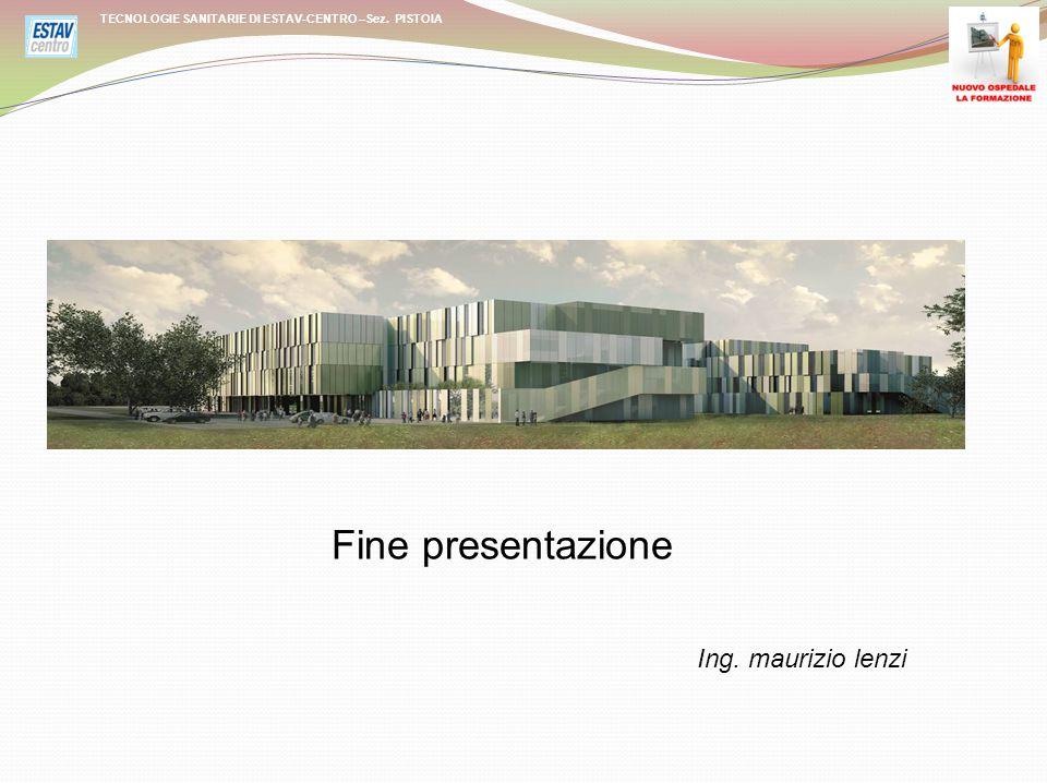 Fine presentazione Ing. maurizio lenzi TECNOLOGIE SANITARIE DI ESTAV-CENTRO –Sez. PISTOIA