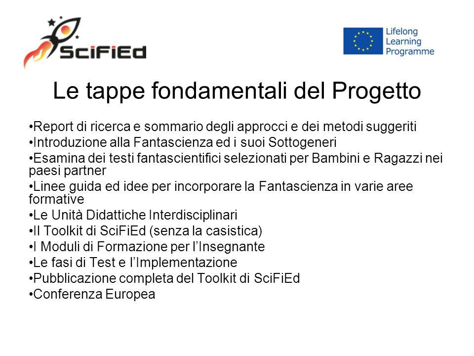 Le tappe fondamentali del Progetto Report di ricerca e sommario degli approcci e dei metodi suggeriti Introduzione alla Fantascienza ed i suoi Sottoge