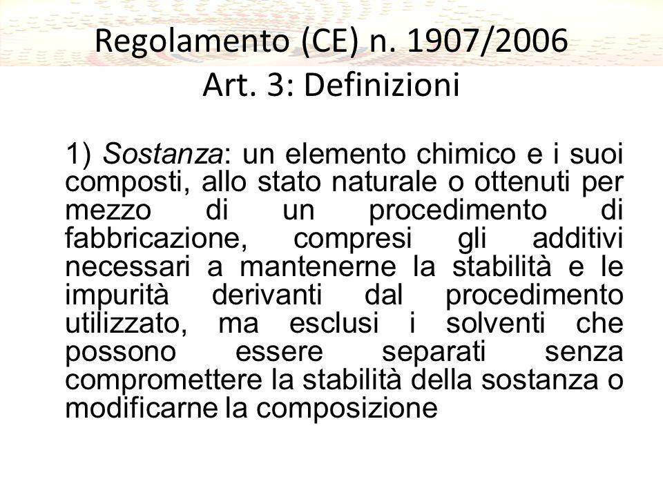 Regolamento (CE) n.1907/2006 Art.