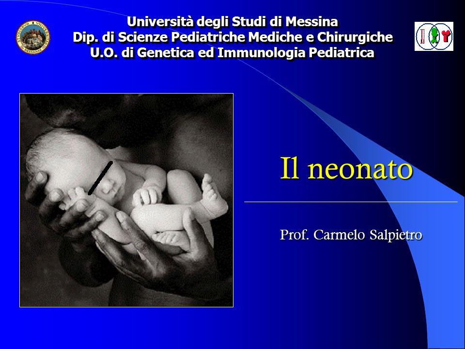 Neonato è il bambino nei primi 28 giorni (4 settimane) di vita CRITERI CLASSIFICATIVI PESO ALLA NASCITA ETA' GESTAZIONALE