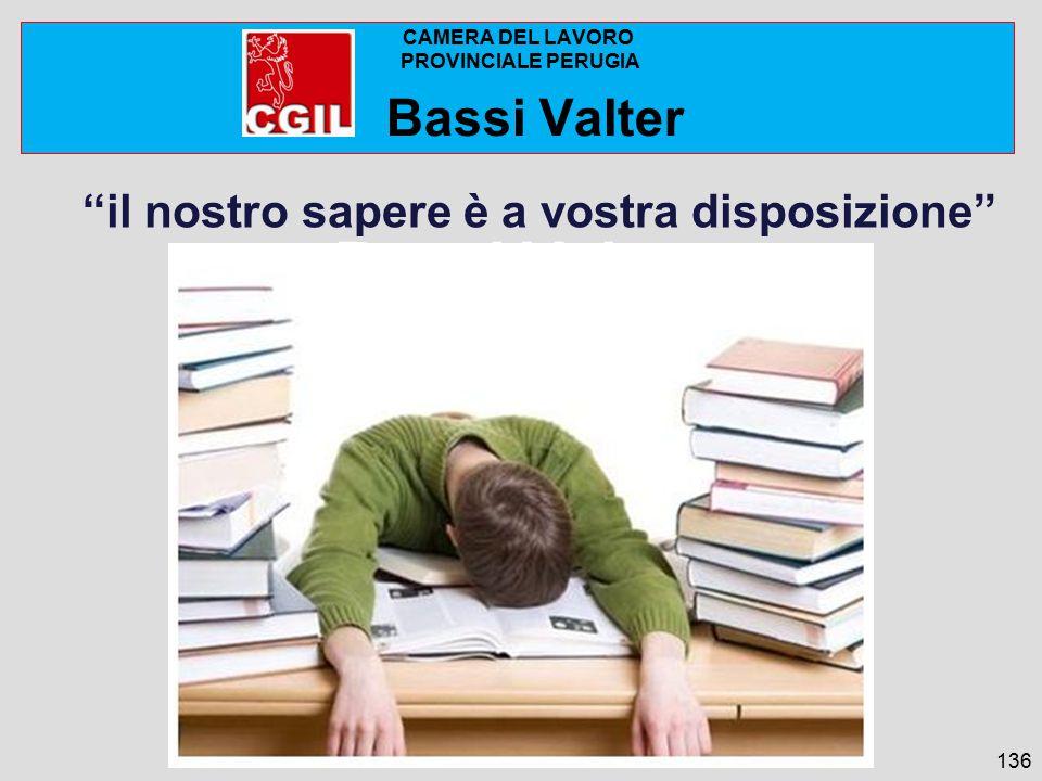 Camera del lavoro di Perugia il nostro sapere è a vostra disposizione 136 CAMERA DEL LAVORO PROVINCIALE PERUGIA Bassi Valter Bassi Valter