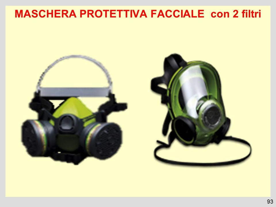 MASCHERA PROTETTIVA FACCIALE con 2 filtri 93