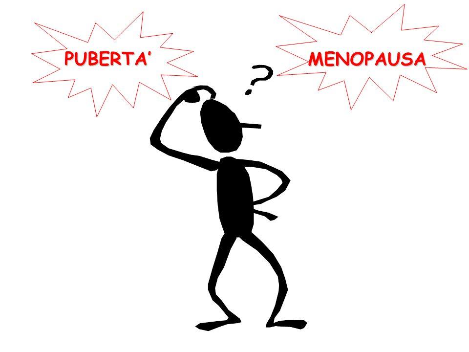 PUBERTA' MENOPAUSA