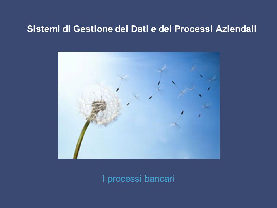 I processi bancari Sistemi di Gestione dei Dati e dei Processi Aziendali