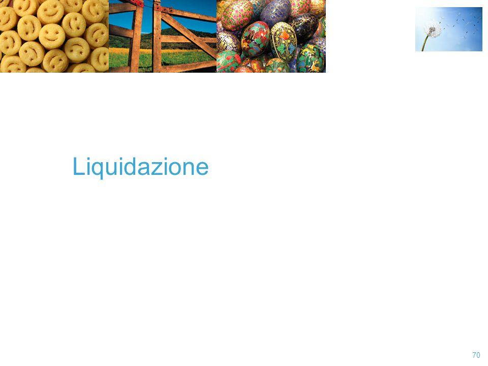 70 Liquidazione