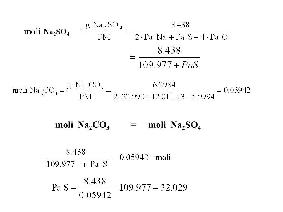 D1-5 Un composto contiene il 21.6% di sodio, il 33.3% di cloro, il 45.1 % di ossigeno.
