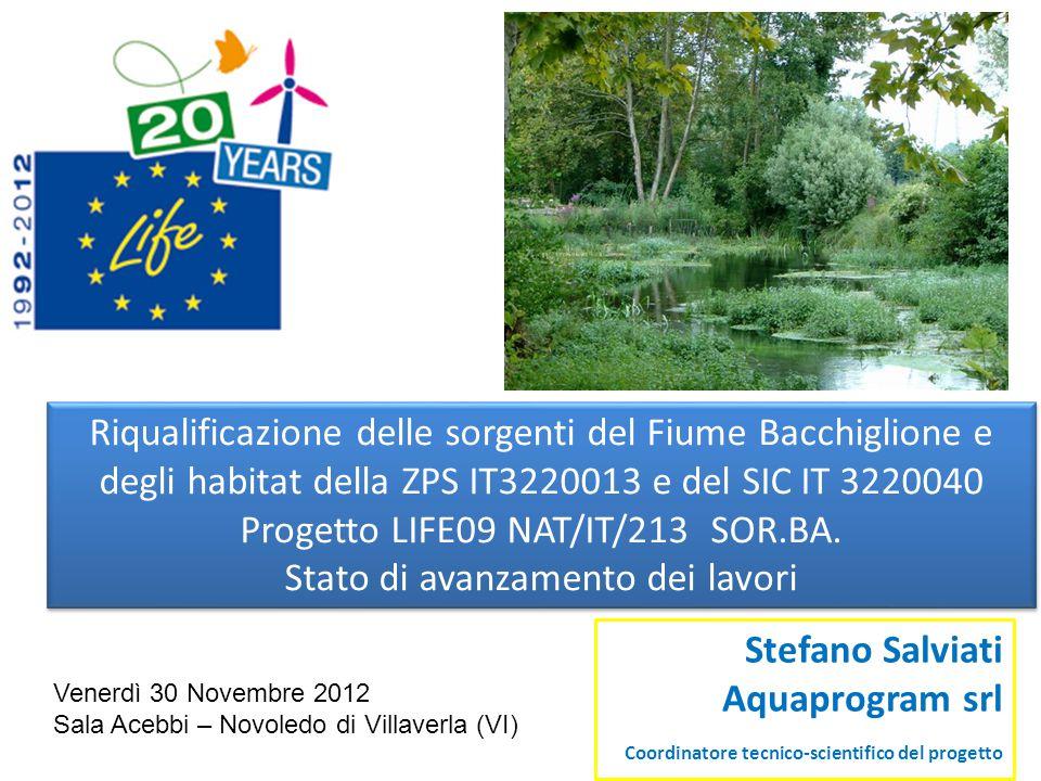 Riqualificazione delle sorgenti del Fiume Bacchiglione e degli habitat della ZPS IT3220013 e del SIC IT 3220040 Progetto LIFE09 NAT/IT/213 SOR.BA. Sta