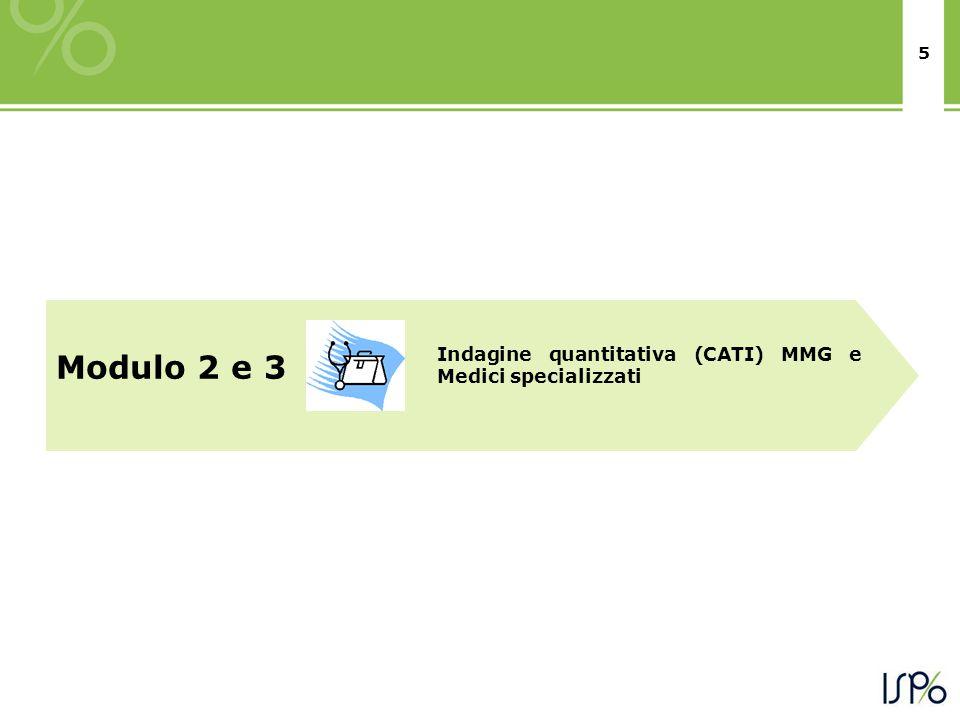 5 Modulo 2 e 3 Indagine quantitativa (CATI) MMG e Medici specializzati