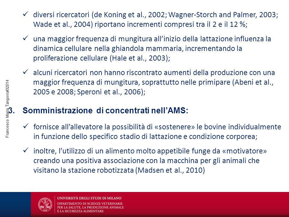 Francesco Maria Tangorra©2014 diversi ricercatori (de Koning et al., 2002; Wagner-Storch and Palmer, 2003; Wade et al., 2004) riportano incrementi com