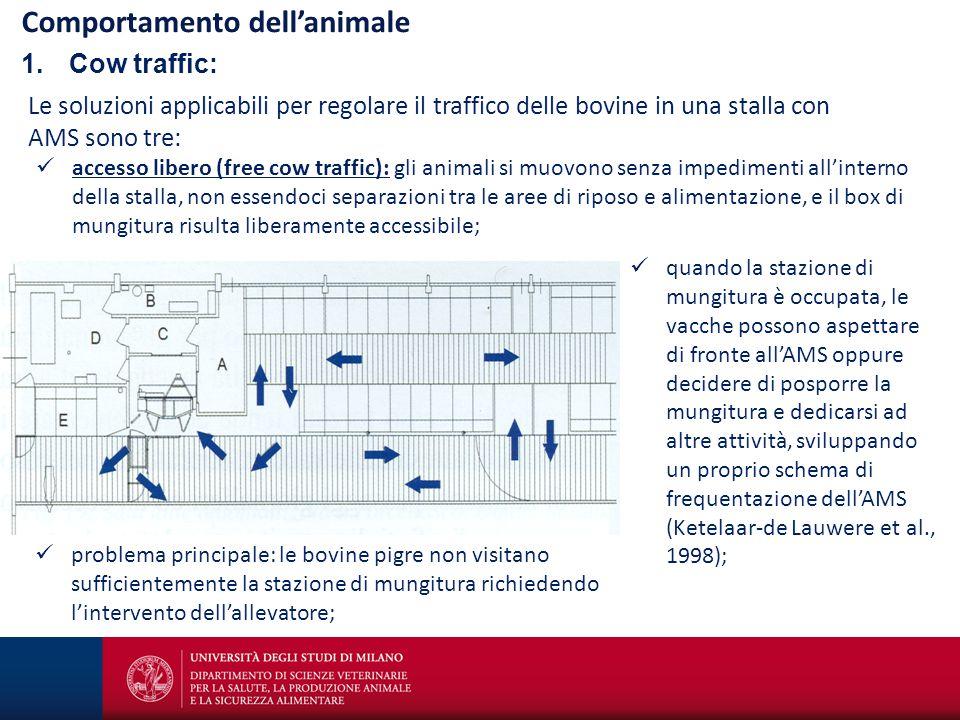 Francesco Maria Tangorra©2014 Comportamento dell'animale 1.Cow traffic: Le soluzioni applicabili per regolare il traffico delle bovine in una stalla c