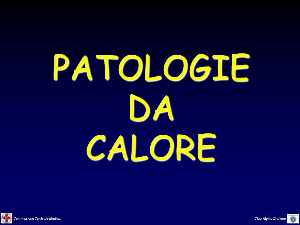 Commissione Centrale Medica Club Alpino Italiano produzione di calore da parte del corpo umano metabolismo basale alimentazione attività muscolare patologie da calore