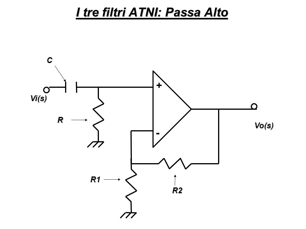 Passa Basso C R2 Vi(s) Vo(s) - + R1