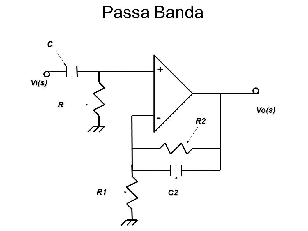 Passa Banda C R2 Vi(s) Vo(s) - + R R1 C2
