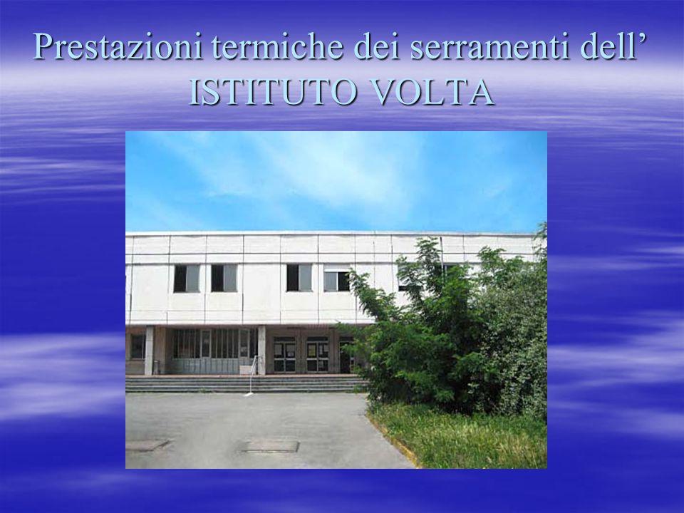 Prestazioni termiche dei serramenti dell' ISTITUTO VOLTA