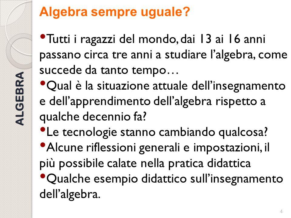 3 Scaletta  La didattica dell'algebra: un articolo ancora attuale (G.Prodi-V.Villani)  Le Indicazioni nazionali e Linee guida (Aritmetica e algebra)