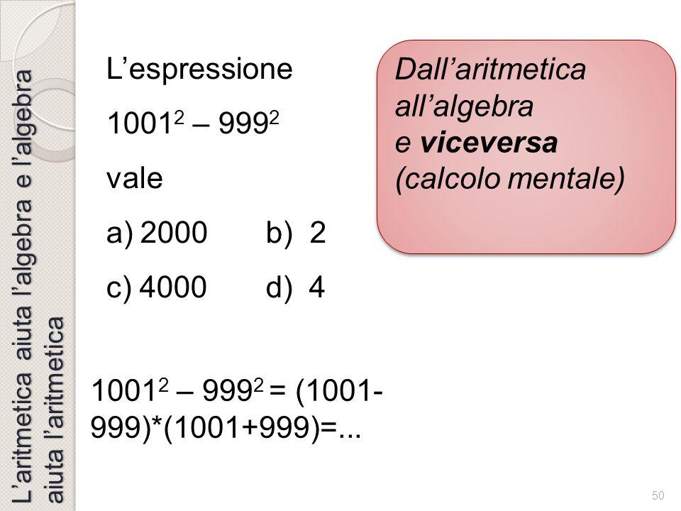 49 V=ab 2 V=a 2 b Cubo di un binomio V=ab 2 ba b a Algebra geometrica