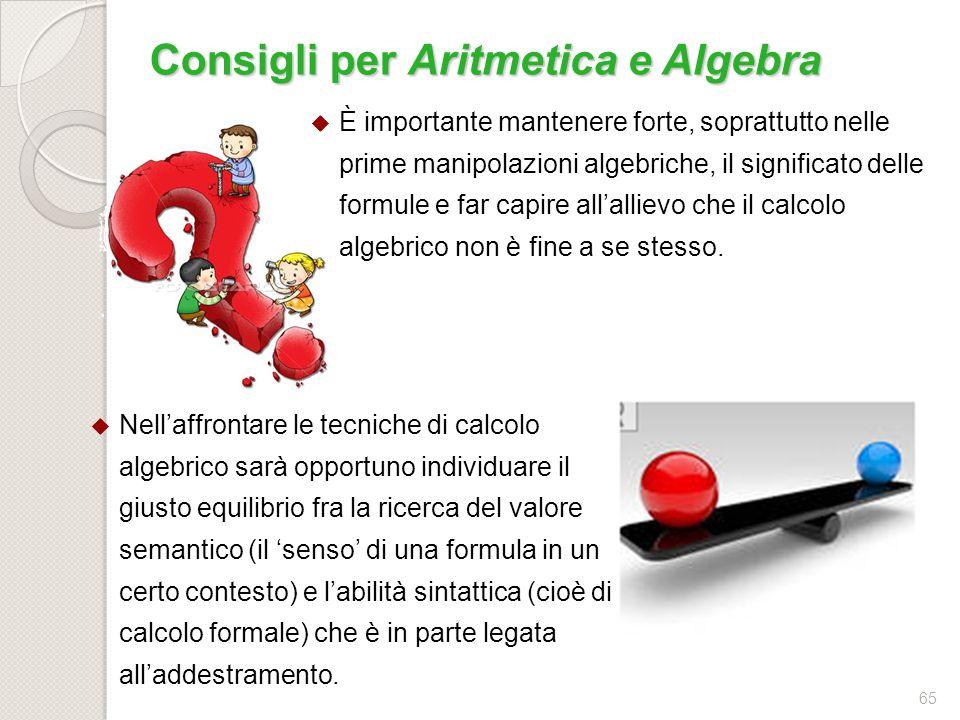 64 ConoscenzeAbilitàCompetenzeAttività Equazioni e disequazioni Equazioni e disequazioni di primo grado: metodi numerici (tabelle), grafici (piano car