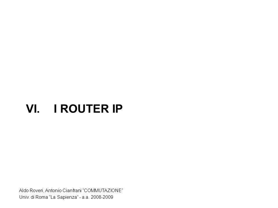 VI.I ROUTER IP Aldo Roveri, Antonio Cianfrani COMMUTAZIONE Univ.