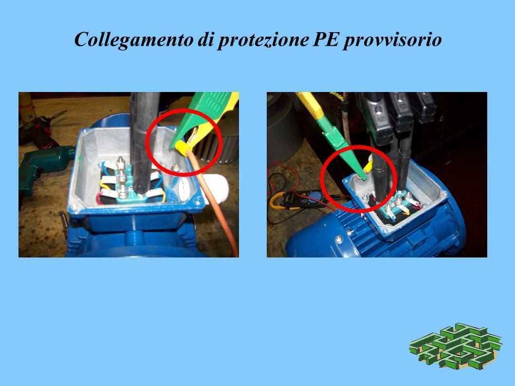 Collegamento di protezione PE provvisorio