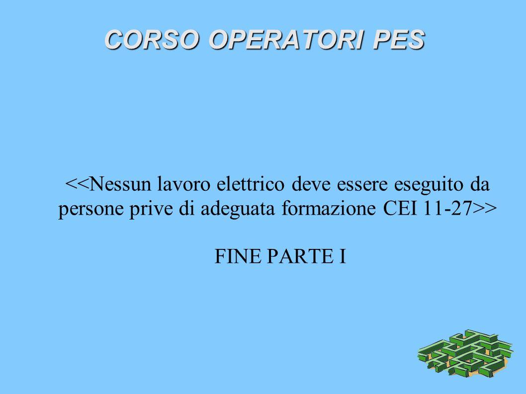 CORSO OPERATORI PES > FINE PARTE I