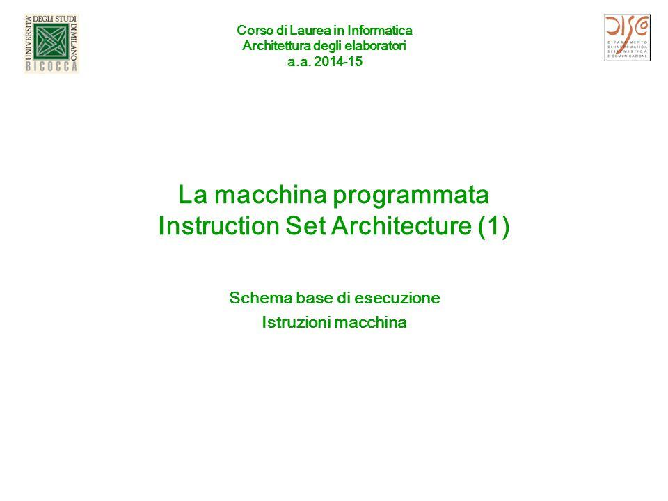 A.A 2014 -15ISA (1)2 Outline Componenti di un computer ( big picture ) Tre aspetti: Cosa fa ( Istruction Set Architecture , ISA) Come si programma (Assembly language) Come è fatto (circuiti e Datapath) Esecuzione di una istruzione Schema di principio MOLTO semplificato (ma generale!) Esempio: somma tra registri Esecuzione di un programma memorizzato Ciclo elementare fetch/execute) Formato delle istruzioni Esempio: istruzioni MIPS R-type Rappresentazione simbolica (Assembly) Catena programmativa (cenni) Simulatori (emulatori): SPIM e MARS