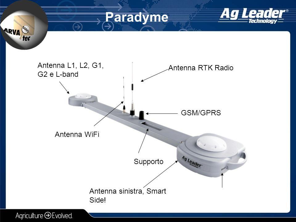 Paradyme Antenna RTK Radio Antenna sinistra, Smart Side! Supporto Antenna WiFi Antenna L1, L2, G1, G2 e L-band GSM/GPRS