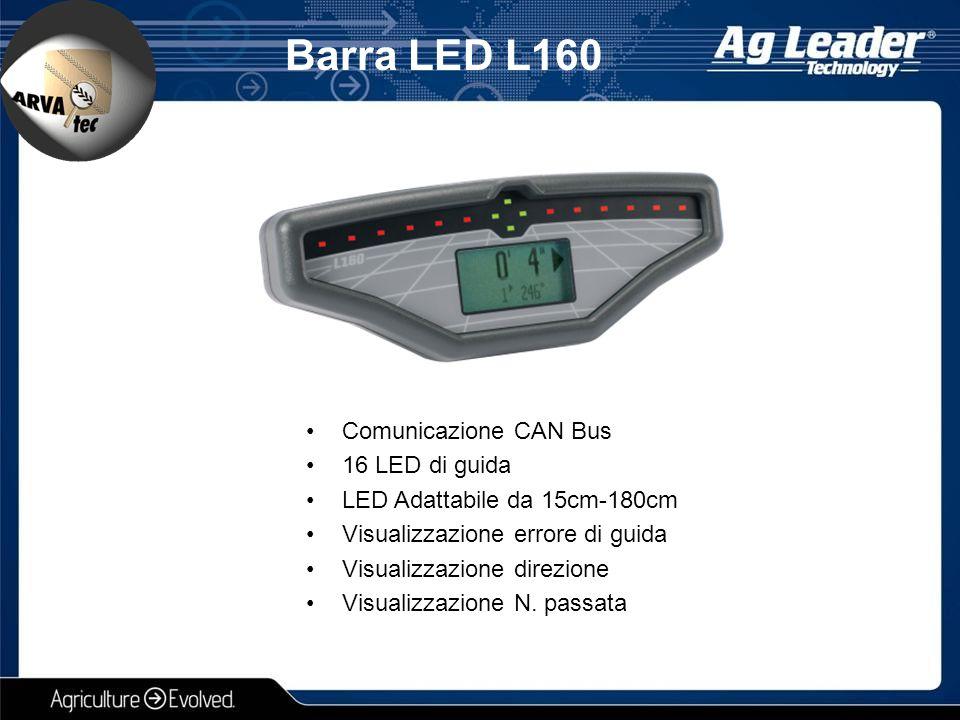 Barra LED L160 Comunicazione CAN Bus 16 LED di guida LED Adattabile da 15cm-180cm Visualizzazione errore di guida Visualizzazione direzione Visualizza