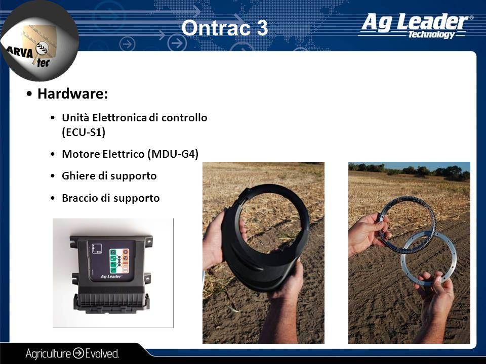 Hardware: Unità Elettronica di controllo (ECU-S1) Motore Elettrico (MDU-G4) Ghiere di supporto Braccio di supporto Ontrac 3