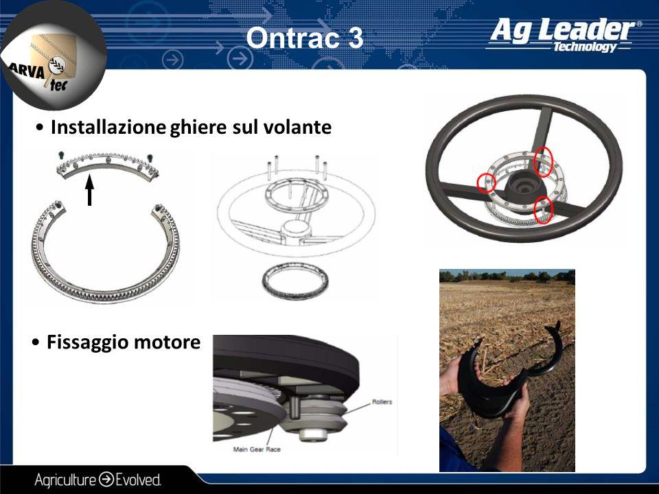 Installazione ghiere sul volante Fissaggio motore Ontrac 3
