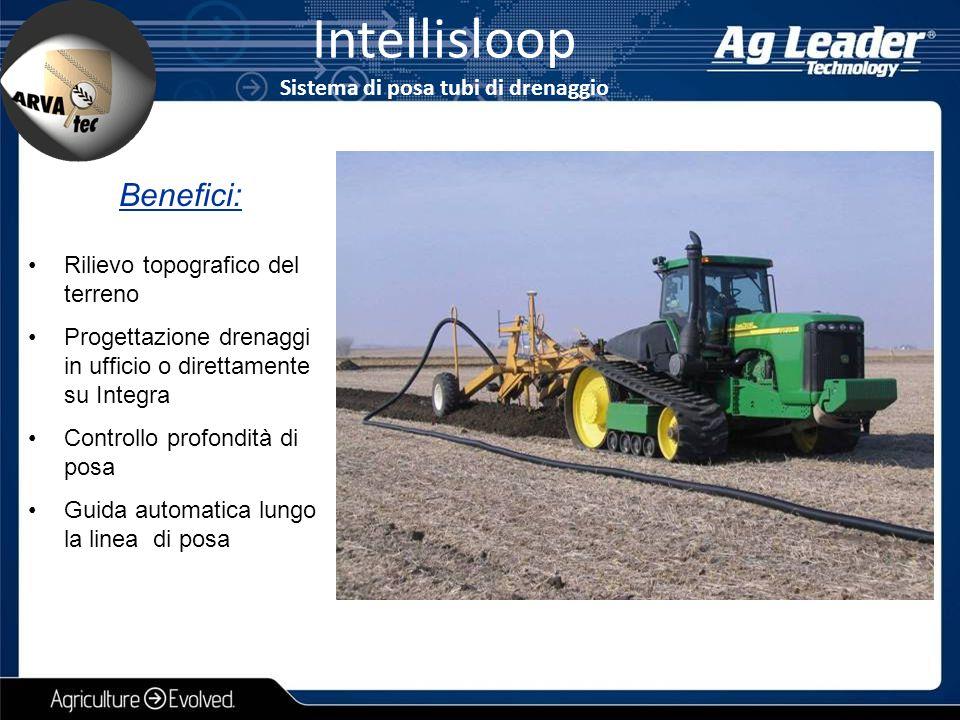 Intellisloop Sistema di posa tubi di drenaggio Rilievo topografico del terreno Progettazione drenaggi in ufficio o direttamente su Integra Controllo p