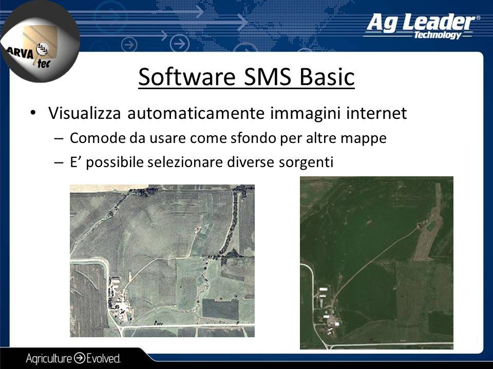 Visualizza automaticamente immagini internet – Comode da usare come sfondo per altre mappe – E' possibile selezionare diverse sorgenti Software SMS Ba