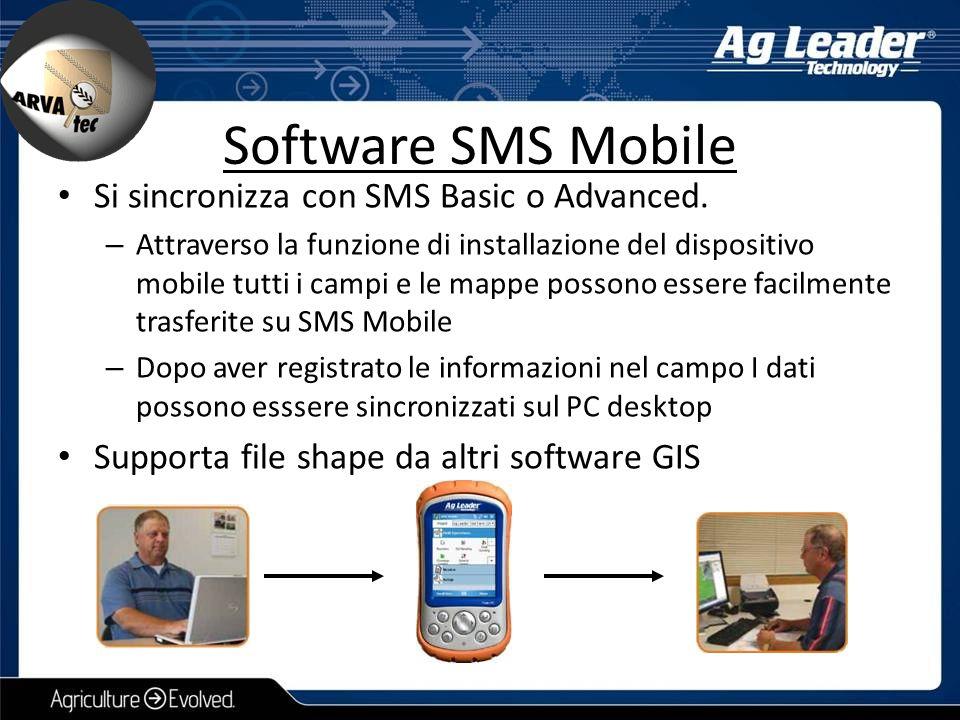 Si sincronizza con SMS Basic o Advanced. – Attraverso la funzione di installazione del dispositivo mobile tutti i campi e le mappe possono essere faci